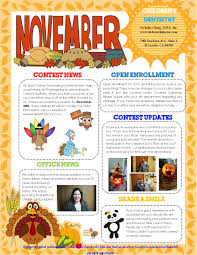 thanksgiving newsletter november newsletter children u0027s dentistry
