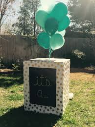 balloons in a box gender reveal gender reveal box i made for my dear friend dishwasher box