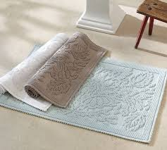 Bathroom Rugs And Mats Isaac Floral Sculpted Bath Rug Pottery Barn