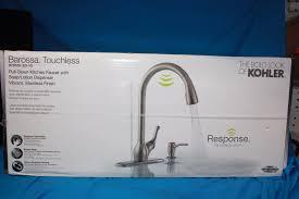 touchless kitchen faucet 5 questions kohler barossa touchless pull kitchen faucet with soap lotion