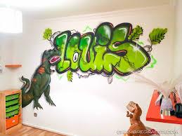 chambre dinosaure chambre graffiti sur le thème dinosaure de louis à lyon chambre
