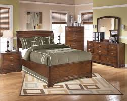 Single Bed Sets Brown Wooden Wooden Single Bed With Grey Bedding Set Added By