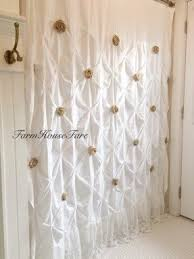 Ruffled Shower Curtain Shabby Chic Shower Curtains Foter