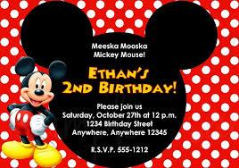 mickey mouse invitation templates orax