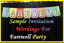 going away party invitations sle invitation wordings farewell party