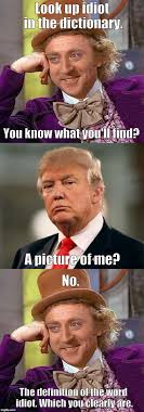 Meme Dictionary Definition - image tagged in willy wonka trump dictionary idiot definition