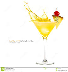 martini pineapple frozen pineapple daiquiri cocktail splashes stock photo image