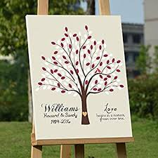 50th anniversary guest book personalized personalized wedding gifts tree guestbook alternative