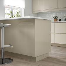 ikea high gloss kitchen cabinets voxtorp cover panel high gloss light beige 36x96 ikea