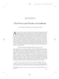 Counting Blessings Versus Burdens Gratitude In Practice And The Practice Of Gratitude Pdf