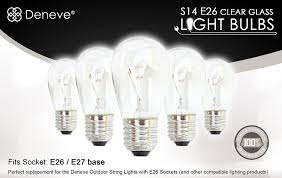 s14 bulbs by deneve 11 watts clear glass s14 incandescent light