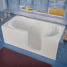 empava 67 white walk in bathtub with left side door empv wit375