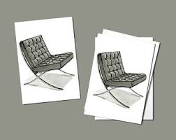 Barcelona Chair Philippines Mies Van Der Rohe Etsy