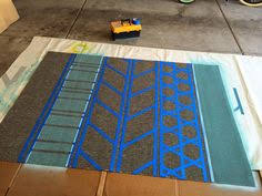 Diy Area Rug Tips For Rug Painting Blogger Home Projects We Love Pinterest