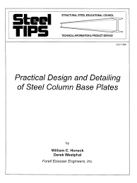practical design and detailing of steel column base