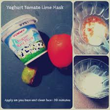 Yogurt Untuk Masker Wajah skincare talk masker yoghurt tomato lime mask merah semangka