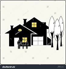 House Silhouette by House Silhouette Family Stock Vector 7398073 Shutterstock