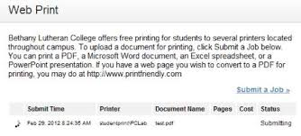 printing bethany lutheran college