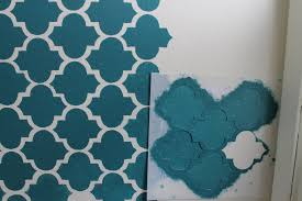 wall painting stencils free download with custom paint moroccan