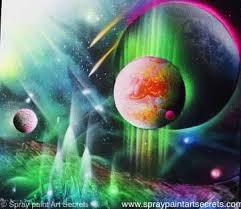 Amazing Spray Paint - spray painting tutorials to paint an amazing space art