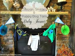 frog themed baby shower serenity now frogs snails and puppy dog tails themed baby boy