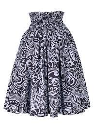 hawaiian pattern skirt hula pa u skirt with kahiko print black g1842 hulaohana