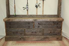 Fishing Rod Storage Cabinet Custom Made Reclaimed Barnwood Lumber Fishing Rod Rack Cabinet By