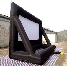 inflatable movie screen rear projection outdoor 20 x 13 ft air