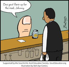 beer can cartoon gout cartoons