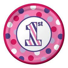 sweet striples 1st birthday cake plates u2013 card u0026 party giant