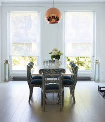 Dining Room Window Coverings Custom Contemporary Window Blinds With Painted Chairs Dining Room