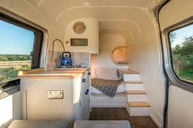converted sprinter van is a cozy tiny home on wheels curbed