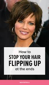 medium length flipped up hairstyles how to stop your hair from flipping up at the ends beautyeditor