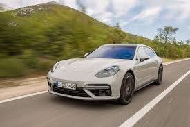 porsche panamera turbo red 2018 porsche panamera turbo sport turismo first drive rending