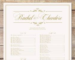 Wedding Seat Chart Template Ivory U0026 Gold Wedding Seating Chart Classic Glam Customizable
