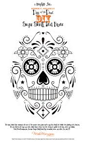 day of the dead sugar skull templates images