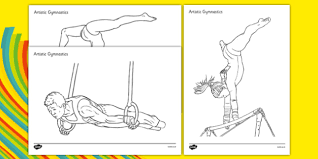 olympics gymnastics colouring sheets gymnastics olympics
