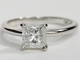 engagement rings simple four prong solitaire engagement ring in 18k white gold