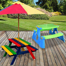 childrens wooden picnic table benches childrens picnic bench ebay
