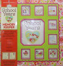 school memories album school years 24 pocketful memories book girl album pink dena