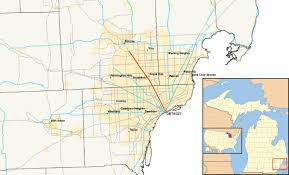 Detroit Edison Outage Map Detroit Suburb Map Detroit Municipalities Map Michigan Usa