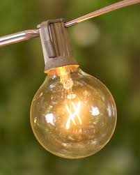 globe string lights brown wire globe string lights 2 inch bulbs 25 foot brown wire c7 strand clear