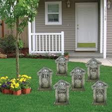 fake tombstones u201c halloween yard decoration u201c set of 6
