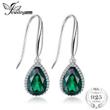emerald drop earrings jewelrypalace luxury 5 4ct nano russian created emerald drop