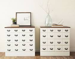 apothecary dresser card catalog cabinet etsy