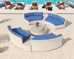 patio furniture marabella outdoor wicker round sectional sofa set