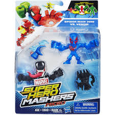 marvel super hero mashers micro spider man 2099 and venom 2 pack