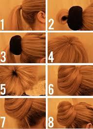 hair bun maker instructiins how to do a messy bun with long hair 4 bun styles