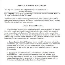 Estate Deal Sheet Template Sle Buy Sell Agreement 7 Free Documents In Pdf Word
