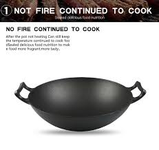 ustensiles de cuisine asiatique ronde en fonte wok cuisine cuisine asiatique ustensiles de cuisine
